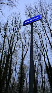 La Grande rue du village détruit de Bezonvaux