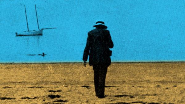 Henri Poincaré sur la plage en 1910